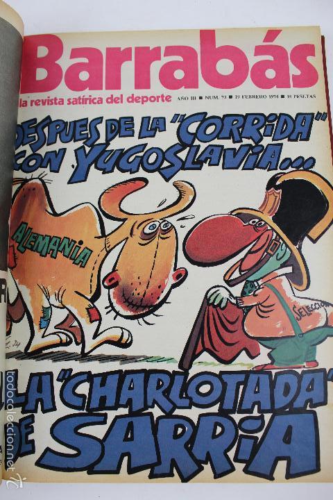 Coleccionismo deportivo: L-3872. REVISTA BARRABÁS ENCUADERNADA. 5 TOMOS. AÑOS 1972 A 1974. DESDE NUMERO 1. - Foto 39 - 57102255