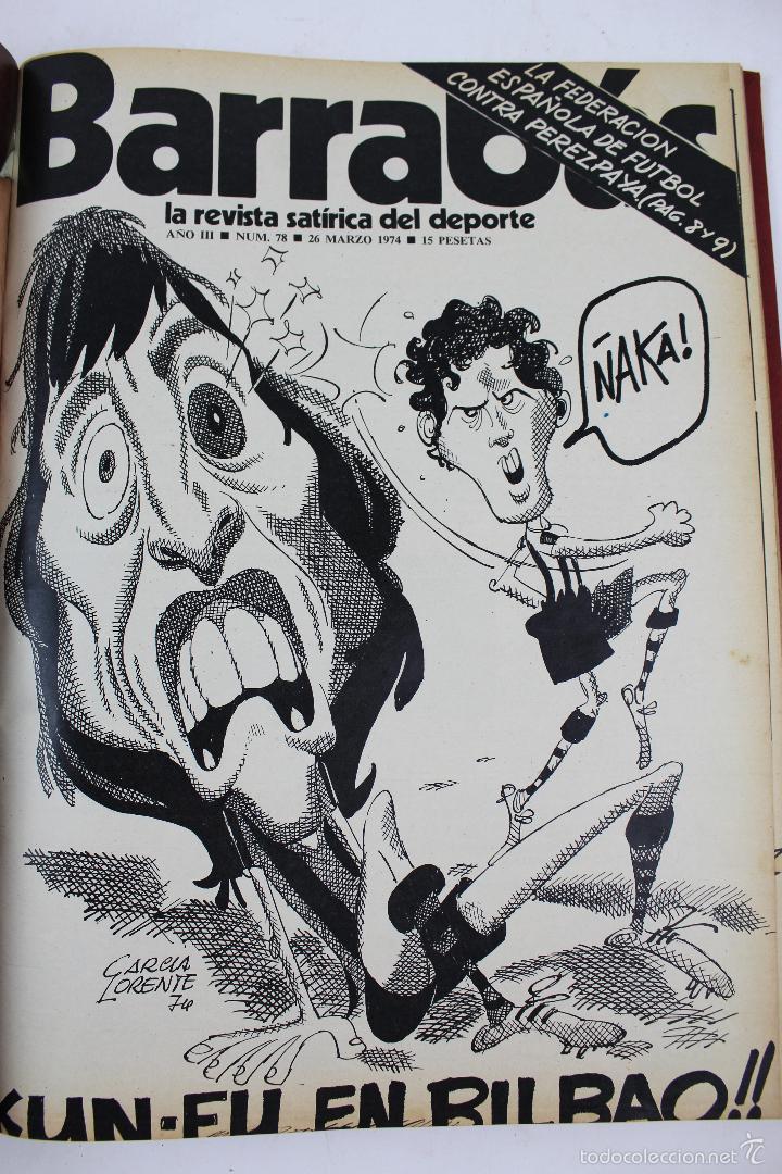Coleccionismo deportivo: L-3872. REVISTA BARRABÁS ENCUADERNADA. 5 TOMOS. AÑOS 1972 A 1974. DESDE NUMERO 1. - Foto 42 - 57102255