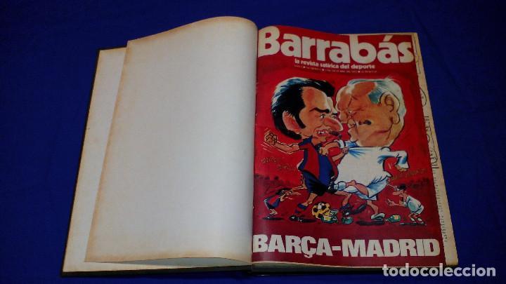 3 TOMOS REVISTA HUMOR Y FÚTBOL BARRABÁS, AÑOS 70. DESDE EL NÚMERO 1 AL 75. INCLUYE TODOS LOS PÓSTERS (Coleccionismo Deportivo - Revistas y Periódicos - Barrabás)