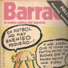 Colecionismo desportivo: BARRABÁS. LA REVISTA SATÍRICA DEL DEPORTE. Nº 37. POSTER CENTRAL: C.D. LOGROÑÉS. (RF.MA)B/62. Lote 84399344