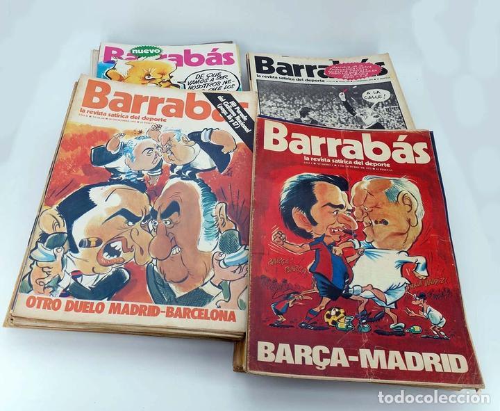 BARRABÁS, REVISTA SATÍRICA DEL DEPORTE. LOTE DE 209NºS DE 242 ELF (VVAA) ELF, 1972 (Coleccionismo Deportivo - Revistas y Periódicos - Barrabás)