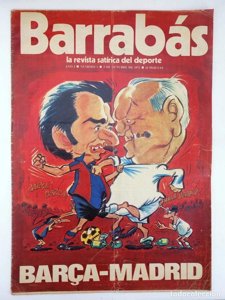 Coleccionismo deportivo: BARRABÁS, REVISTA SATÍRICA DEL DEPORTE. LOTE DE 209NºS DE 242 ELF (Vvaa) Elf, 1972 - Foto 3 - 96011372