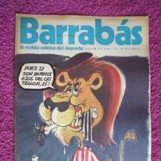Coleccionismo deportivo: BARRABÁS, REVISTA SATÍRICA DEL DEPORTE, AÑO II - 1973, Nº 40.. Lote 96590347