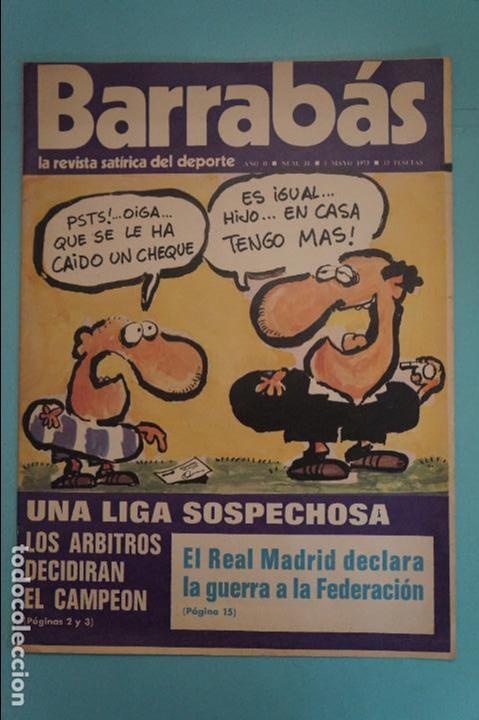 REVISTA DE FÚTBOL BARRABÁS DEL F.C BARCELONA POSTER LA MARGARITA R.C.D.MALLORCA Nº 31 AÑO 1973 (Coleccionismo Deportivo - Revistas y Periódicos - Barrabás)