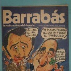 Coleccionismo deportivo: REVISTA DE FÚTBOL BARRABÁS DEL F.C BARCELONA POSTER LA MICAELA CÁDIZ C.F. Nº 30 AÑO 1973. Lote 105795547