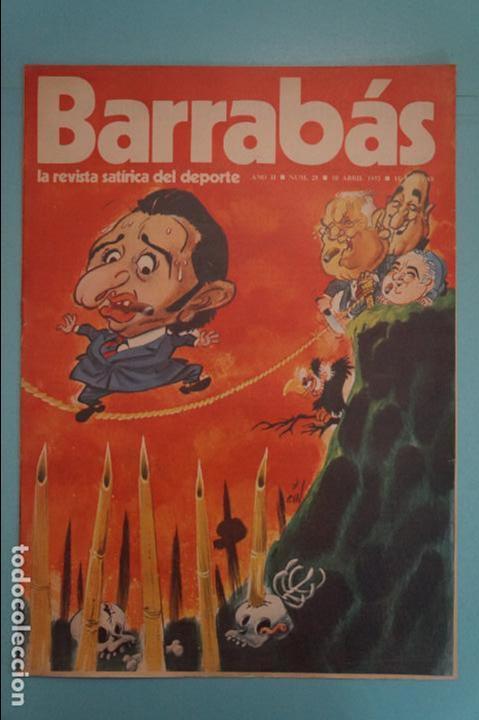 REVISTA DE FÚTBOL BARRABÁS DEL F.C BARCELONA SIN POSTER Nº 28 AÑO 1973 (Coleccionismo Deportivo - Revistas y Periódicos - Barrabás)