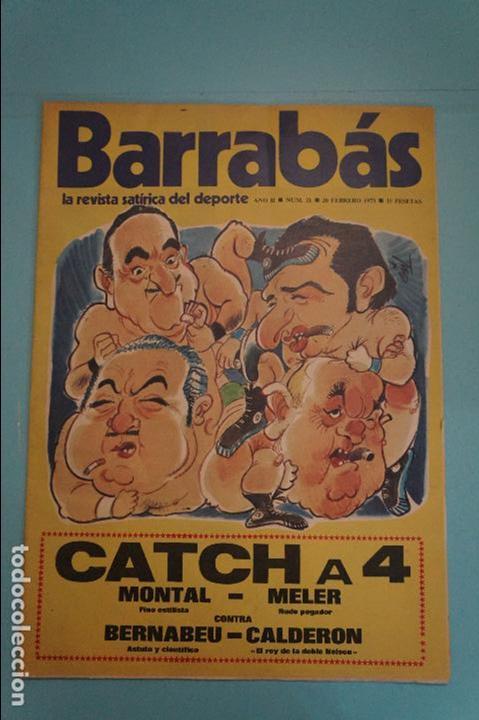 REVISTA DE FÚTBOL BARRABÁS DEL F.C BARCELONA SIN POSTER Nº 21 AÑO 1973 (Coleccionismo Deportivo - Revistas y Periódicos - Barrabás)