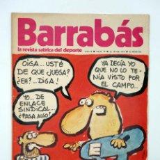Colecionismo desportivo: BARRABÁS. LA REVISTA SATÍRICA DEL DEPORTE 39. LA CARA Y CRUZ DE LA SINDICACIÓN EN EL FUTBOL., 1973. Lote 117217742
