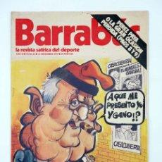 Coleccionismo deportivo: BARRABÁS. LA REVISTA SATÍRICA DEL DEPORTE 63. LAS ELECCIONES DEL BARÇA (VVAA) ELF, 1973. Lote 117217904