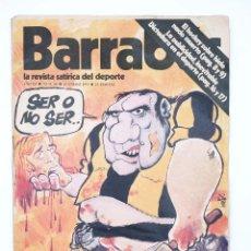 Colecionismo desportivo: BARRABÁS. LA REVISTA SATÍRICA DEL DEPORTE 68. LA VIOLENCIA EN EL FÚTBOL (VVAA) ELF, 1974. Lote 117217924