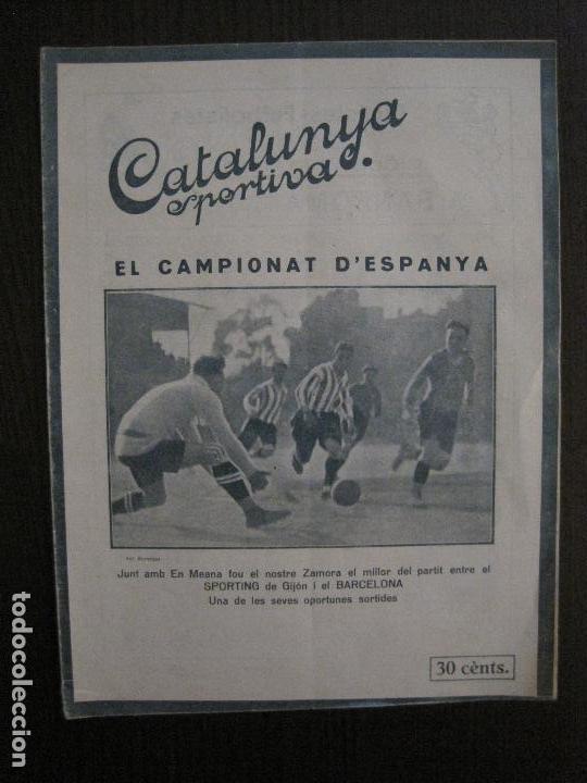 ZAMORA-GIJON-BARCELONA CROOK TOWN- CIVIL SERVICE-CATALUNYA SPORTIVA-ABRIL 1922-VER FOTOS-(V-14.217) (Coleccionismo Deportivo - Revistas y Periódicos - Catalunya Sportiva)