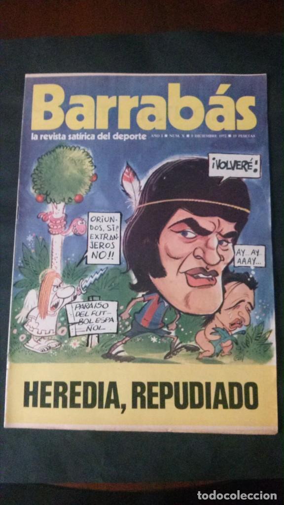BARRABAS 10-1972 (Coleccionismo Deportivo - Revistas y Periódicos - Barrabás)