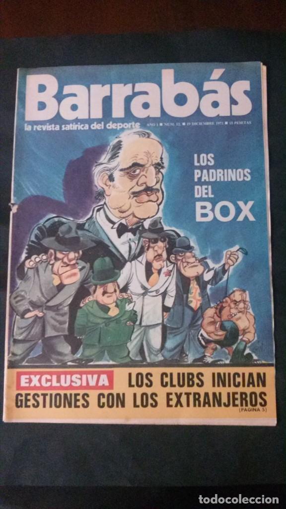 BARRABAS 12-1972 (Coleccionismo Deportivo - Revistas y Periódicos - Barrabás)