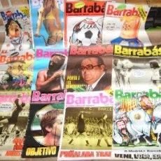 Coleccionismo deportivo: BARRABÁS REVISTA SATÍRICA DEL DEPORTE LOTE 64 NºS. AÑOS 1975 AL 1979 PORTES GRATIS. REGALO EL JUEVES. Lote 138741126