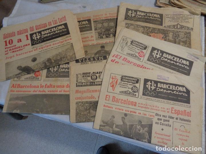 LOTE DE 8 PERIÓDICOS BARCELONA DEPORTIVA (Coleccionismo Deportivo - Revistas y Periódicos - Catalunya Sportiva)