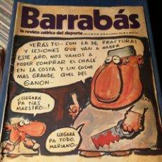 Coleccionismo deportivo: REVISTA BARRABÁS (REVISTASATÍRICA DEL DEPORTE)- N°48, 1973.. Lote 149729640