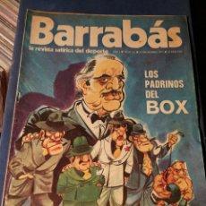 Coleccionismo deportivo: REVISTA BARRABÁS (REVISTASATÍRICA DEL DEPORTE)- N°12, 1972.. Lote 149730961