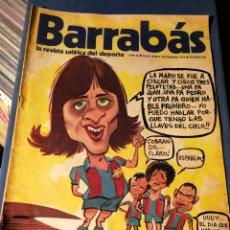 Coleccionismo deportivo: REVISTA BARRABÁS (REVISTASATÍRICA DEL DEPORTE)-PORTADA J.CRUYFF, N°58, 1973.. Lote 149732068