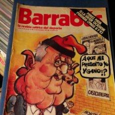 Coleccionismo deportivo: REVISTA BARRABÁS (REVISTASATÍRICA DEL DEPORTE)- N°63, 1973.. Lote 149732544