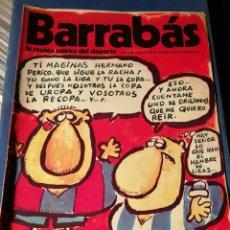 Coleccionismo deportivo: REVISTA BARRABÁS (REVISTASATÍRICA DEL DEPORTE)- N°9, 1972.. Lote 149733414