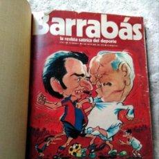 Coleccionismo deportivo: TOMO REVISTAS BARRABAS 10 PRIMEROS NÚMEROS ENCUADERNADAS. Lote 158322550