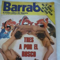 Coleccionismo deportivo: REVISTA BARRABÁS Nº 174 - AÑO 1976 - POSTER CENTRAL DESNUDO CHICA. Lote 164292834