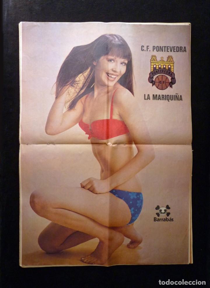 Coleccionismo deportivo: LOTE DE 5 REVISTAS BARRABÁS. LA REVISTA SATÍRICA DEL DEPORTE. AÑO 1973, Nº 26-27-28-29-32 + POSTERS - Foto 3 - 178041664