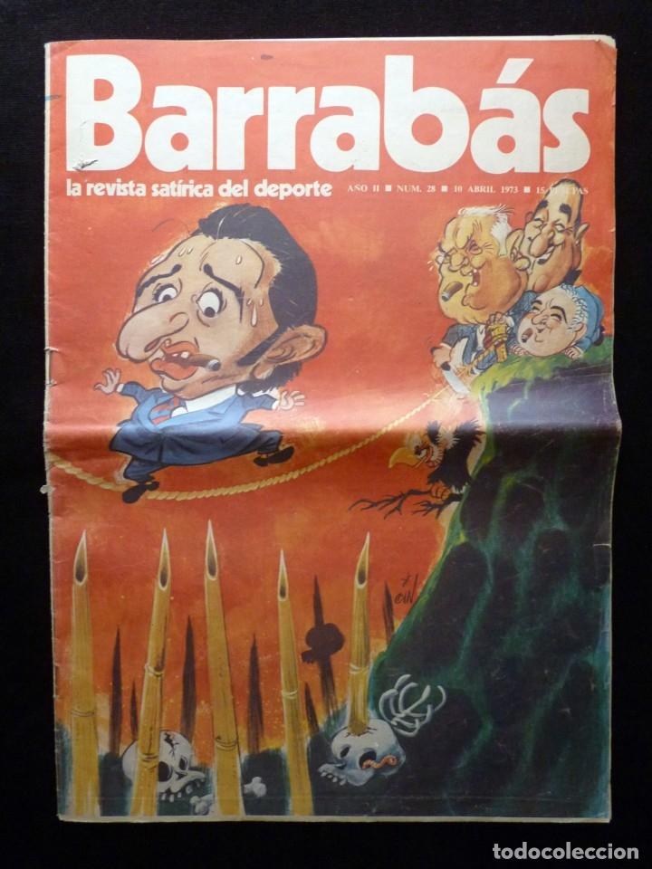 Coleccionismo deportivo: LOTE DE 5 REVISTAS BARRABÁS. LA REVISTA SATÍRICA DEL DEPORTE. AÑO 1973, Nº 26-27-28-29-32 + POSTERS - Foto 10 - 178041664