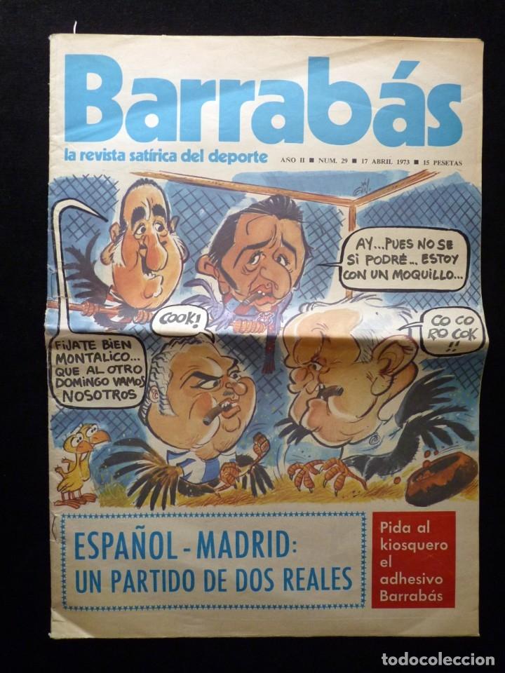 Coleccionismo deportivo: LOTE DE 5 REVISTAS BARRABÁS. LA REVISTA SATÍRICA DEL DEPORTE. AÑO 1973, Nº 26-27-28-29-32 + POSTERS - Foto 11 - 178041664
