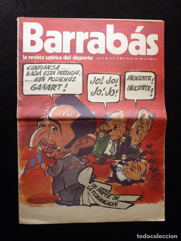Coleccionismo deportivo: LOTE DE 5 REVISTAS BARRABÁS. LA REVISTA SATÍRICA DEL DEPORTE. AÑO 1973, Nº 26-27-28-29-32 + POSTERS - Foto 12 - 178041664