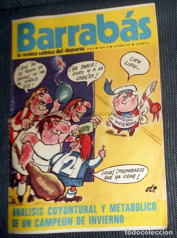 DIARIO DEPORTIVO FÚTBOL BARRABÁS Nº16 ENERO 1973 FÚTBOL VINTAGE PÓSTER CD SAN ANDRES CHICAS (Coleccionismo Deportivo - Revistas y Periódicos - Barrabás)