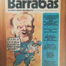 Coleccionismo deportivo: BARRABAS 123, 4 FEBRERO 1975. LA REVISTA SATIRICA DEL DEPORTE. FUTBOL MANOLO SANTANA.... Lote 199791632