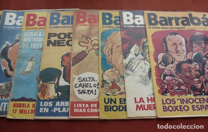 COLECCIÓN DE 8 EJEMPLARES DE LA REVISTA SATÍRICA DEL DEPORTE BARRABÁS - VER DESCRIPCIÓN -SALIDA 0,01 (Coleccionismo Deportivo - Revistas y Periódicos - Barrabás)