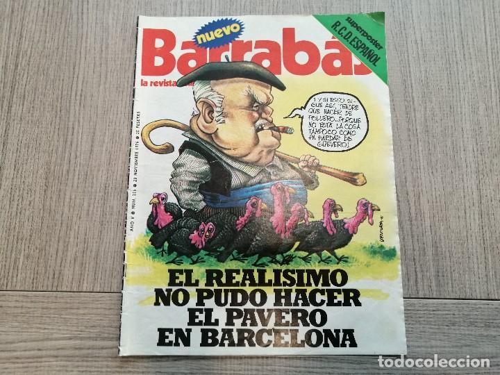 REVISTA-CÓMIC BARRABÁS, 23-11-1976 Nº 216, REAL MADRID, POSTER ESPANYOL. (Coleccionismo Deportivo - Revistas y Periódicos - Barrabás)