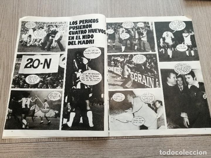 Coleccionismo deportivo: Revista-Cómic Barrabás, 23-11-1976 Nº 216, Real Madrid, Poster Espanyol. - Foto 2 - 203936193