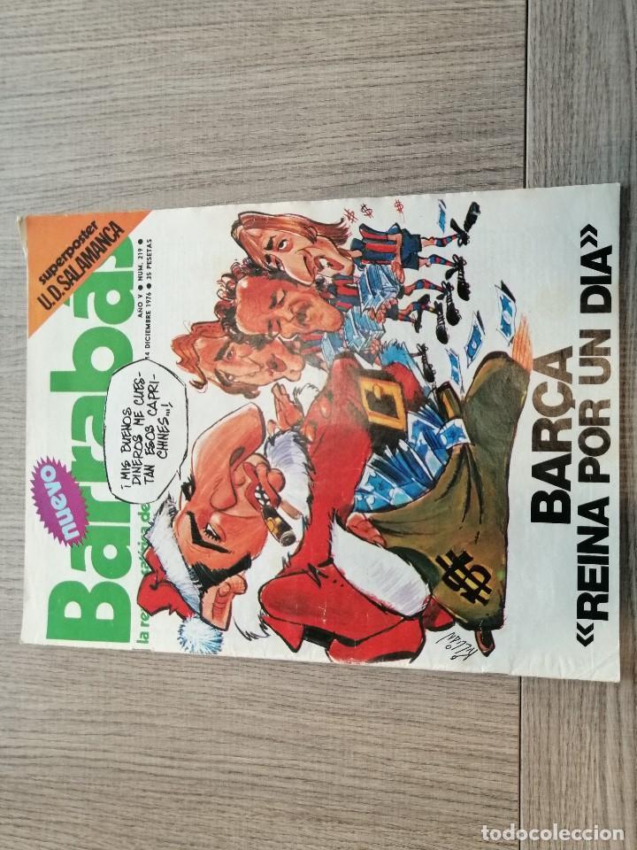 REVISTA-CÓMIC BARRABÁS, 14-12-1976 Nº 219, FC BARCELONA, POSTER UD SALAMANCA. (Coleccionismo Deportivo - Revistas y Periódicos - Barrabás)