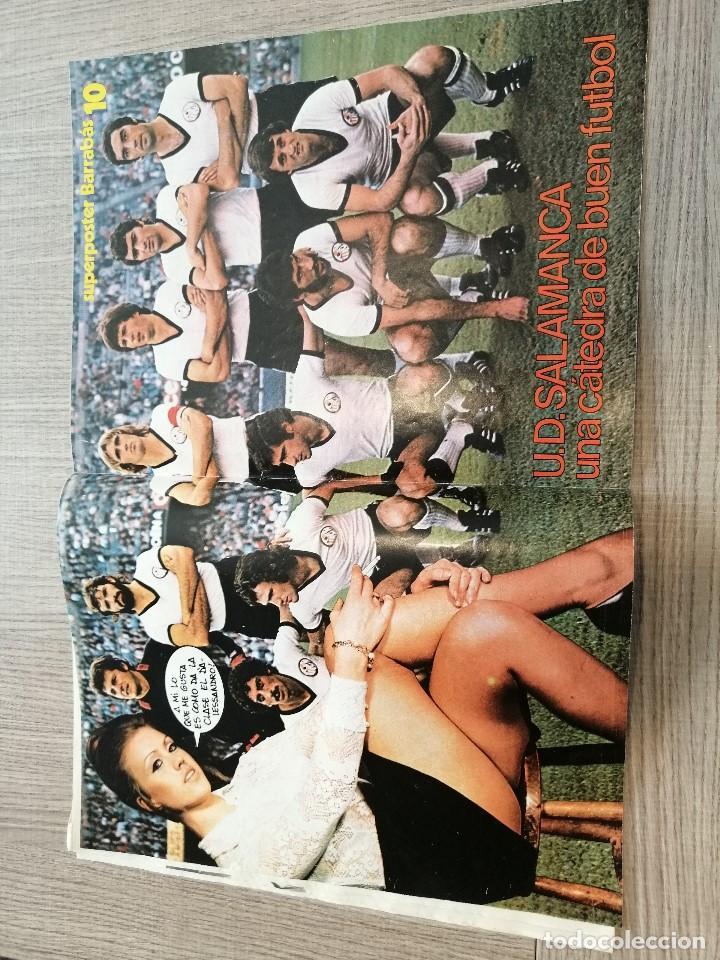 Coleccionismo deportivo: Revista-Cómic Barrabás, 14-12-1976 Nº 219, FC Barcelona, poster UD Salamanca. - Foto 3 - 203936878