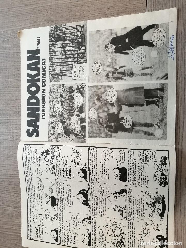 Coleccionismo deportivo: Revista-Cómic Barrabás, 21-12-1976 Nº 220, FC Barcelona, poster Real Sociedad. - Foto 2 - 203937363