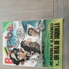 Coleccionismo deportivo: REVISTA-CÓMIC BARRABÁS, 4-01-1977 Nº 222, ATLETICO MADRID, POSTER SPORTING GIJÓN.. Lote 203937783