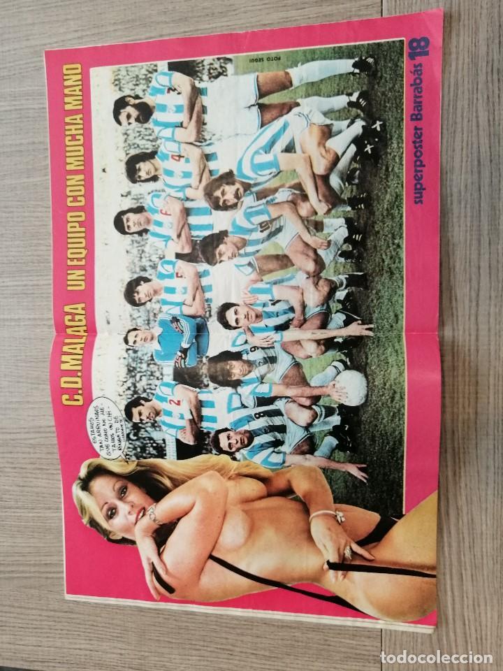 Coleccionismo deportivo: Revista-Cómic Barrabás, 15-02-1977 Nº 228, FC Barcelona, Cruyff, poster Málaga fútbol - Foto 2 - 203937950