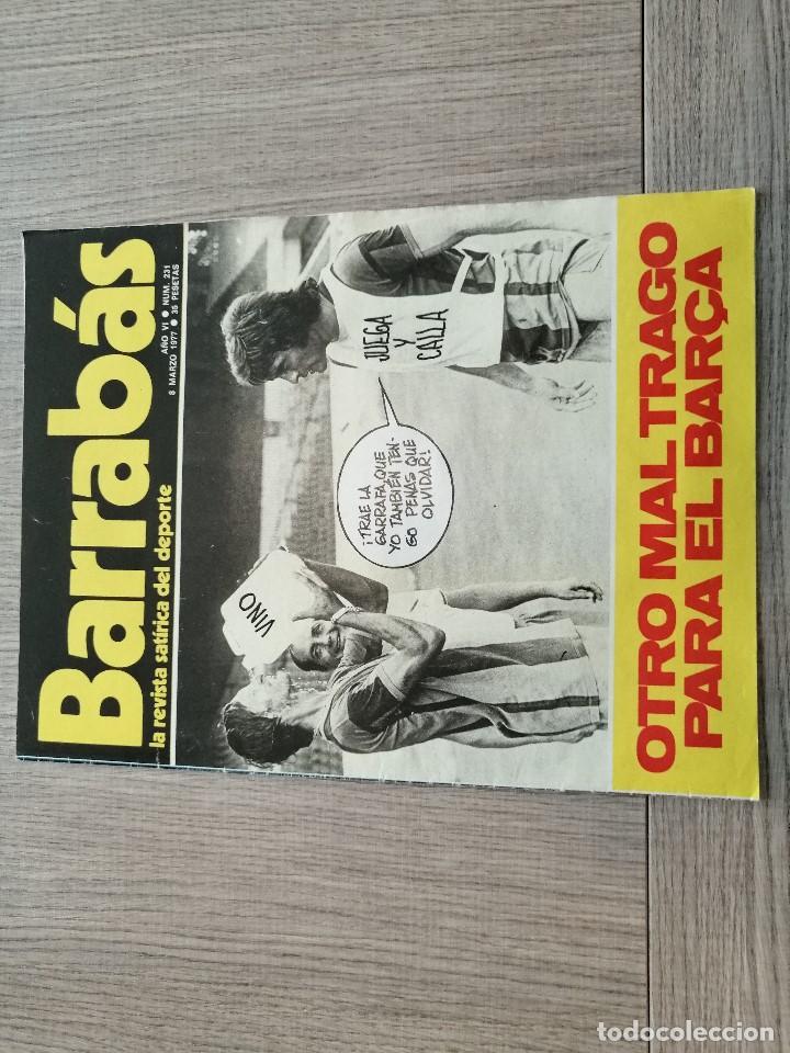 REVISTA-CÓMIC BARRABÁS, 8-03-1977 Nº 231, FC BARCELONA, CRUYFF, POSTER FC BARCELONA BALONCESTO (Coleccionismo Deportivo - Revistas y Periódicos - Barrabás)