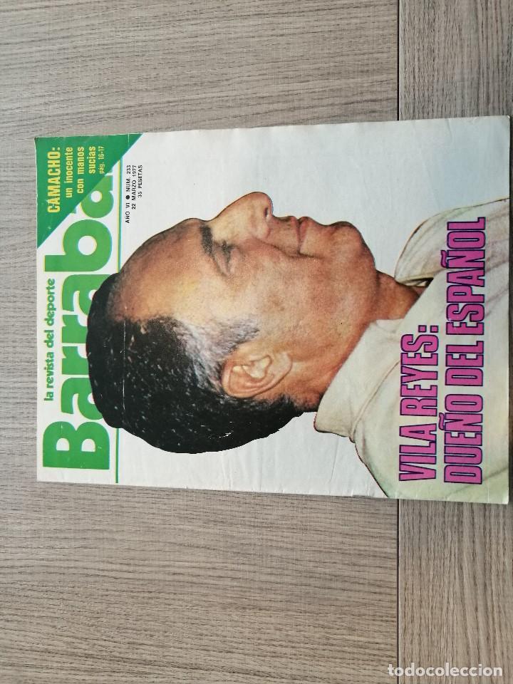 REVISTA-CÓMIC BARRABÁS, 233, ESPANYOL, POSTER RATON AYALA ATLETICO MADRID, CICLISMO SETMANA CATALANA (Coleccionismo Deportivo - Revistas y Periódicos - Barrabás)