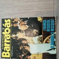 Coleccionismo deportivo: REVISTA-CÓMIC BARRABÁS, 29-03-1977 Nº 234, REAL MADRID, FRANCO, SELECCION, KUBALA, ALEMANIA, HOLANDA. Lote 203939200