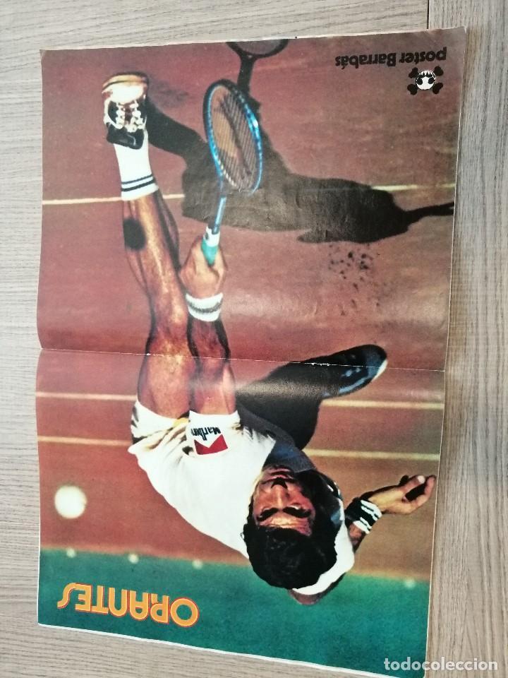 Coleccionismo deportivo: Revista-Cómic Barrabás, 15-02-1977 Nº 228, FC Barcelona, Tenis poster Orantes. - Foto 3 - 203939357