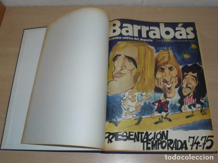 Coleccionismo deportivo: Tomo V BARRABAS Revista Satírica del Deporte Números 96 al 119 año 1974 Barsa Madrid Atleti Español - Foto 2 - 204094007