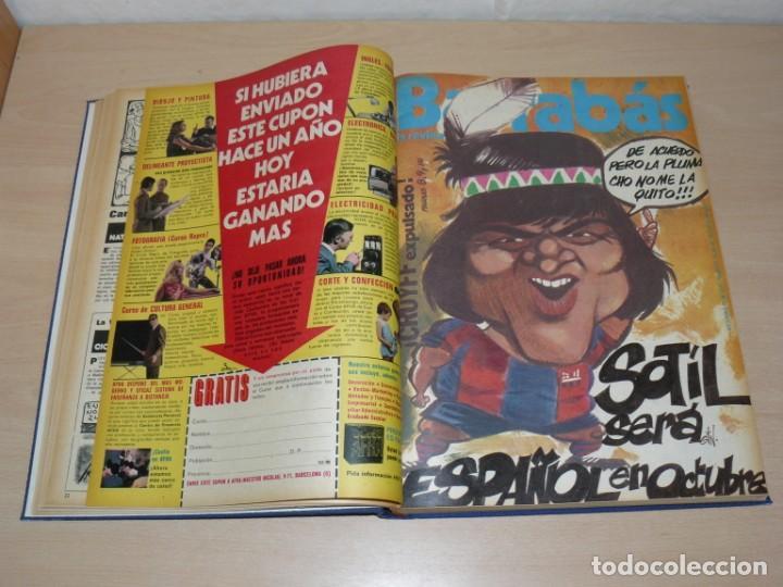 Coleccionismo deportivo: Tomo V BARRABAS Revista Satírica del Deporte Números 96 al 119 año 1974 Barsa Madrid Atleti Español - Foto 3 - 204094007