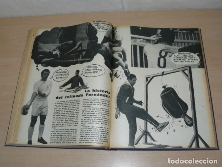 Coleccionismo deportivo: Tomo V BARRABAS Revista Satírica del Deporte Números 96 al 119 año 1974 Barsa Madrid Atleti Español - Foto 5 - 204094007