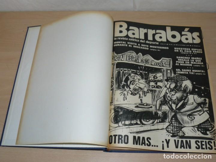Coleccionismo deportivo: Tomo VI BARRABAS Revista Satírica del Deporte Números 120 a 143 año 1975 Barsa Madrid Atleti Español - Foto 3 - 204095492
