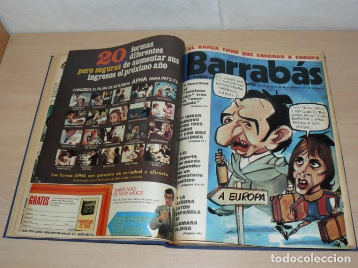 Coleccionismo deportivo: Tomo VI BARRABAS Revista Satírica del Deporte Números 120 a 143 año 1975 Barsa Madrid Atleti Español - Foto 5 - 204095492