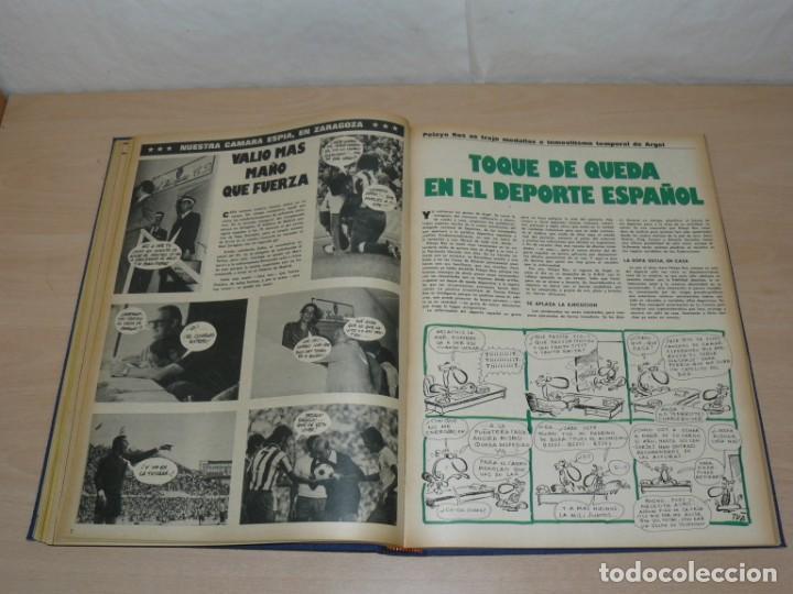 Coleccionismo deportivo: Tomo VII BARRABAS Revista Satírica de Deporte Números 144 a 166 año 1975 Barsa Madrid Atleti Español - Foto 5 - 204095756